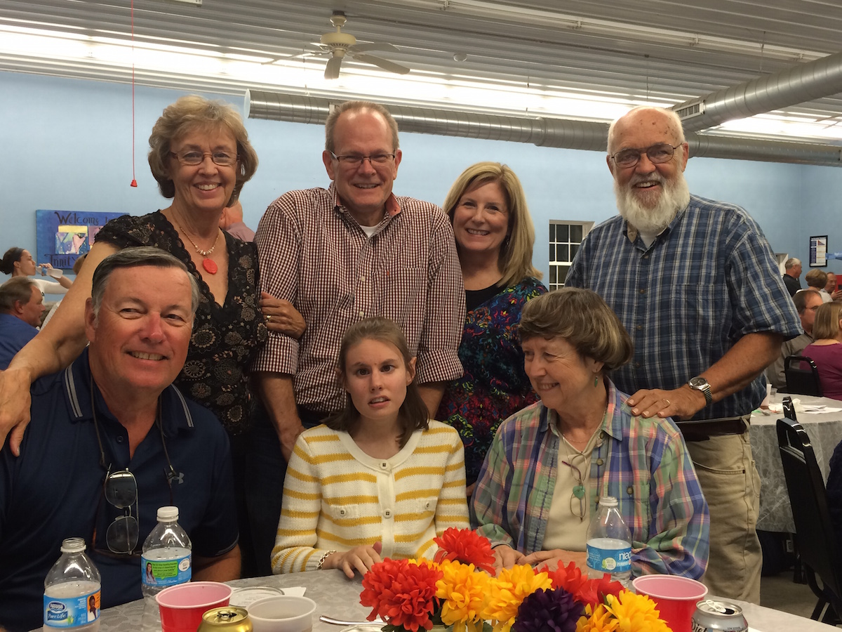 A group of O'Fallon residents took part in the festivities. Front row, from left: Denny Cowder, Katelyn Cozad, Nancy Morrison. Back row, from left: Linda Cowder, David Cozad, Linda Cozad, and Larry Morrison.