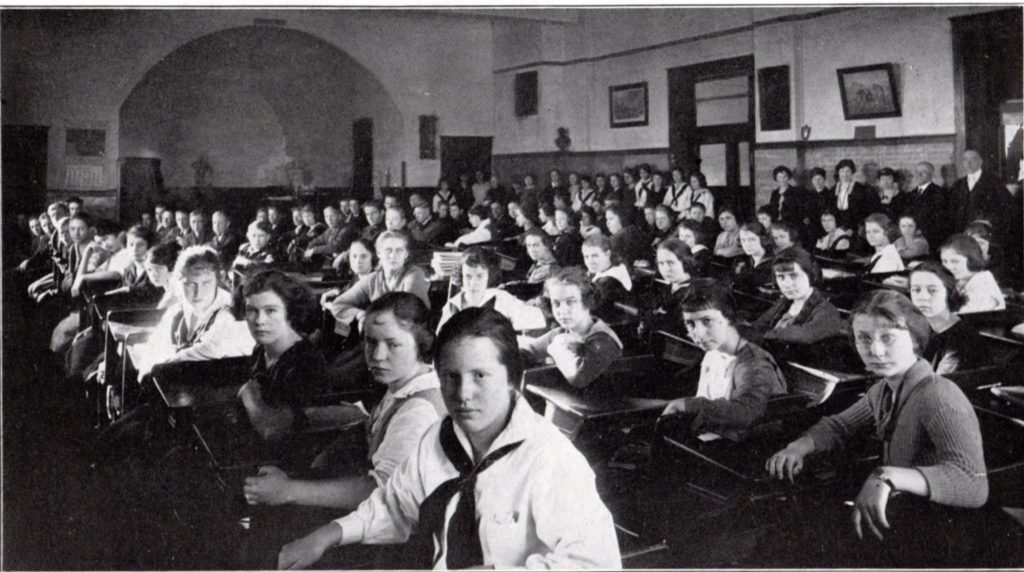 OTHS Assembly Hall 1921-22