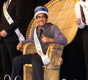 Patel was all smiles throughout the evening. (O'Fallon Weekly Photo by Nick Miller)