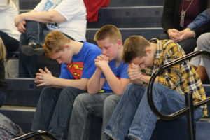 Attendees young and old were moved to tears during a video about Janet's fight with cancer. (O'Fallon Weekly Photo by Nick Miller)