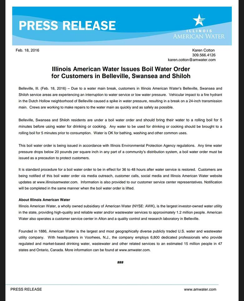 american water shiloh letter 2-18-16