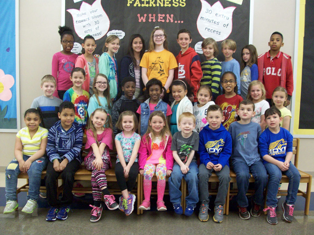 Moye Elementary School Character Students of the Month