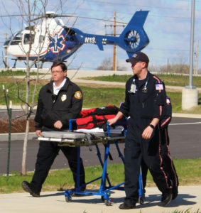 Memorial Hospital Helicopter Drill