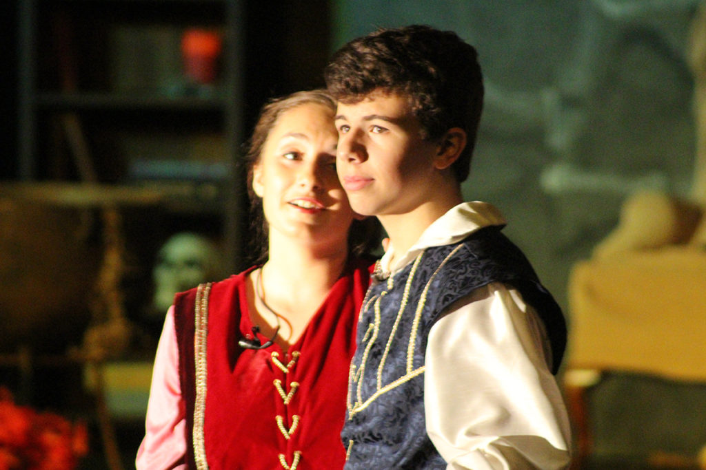 Princess Briar Rose, played by Emma Ellington, and Prince Alexander, played by Nevan Bickel. (O'Fallon Weekly Photo by Nick Miller)