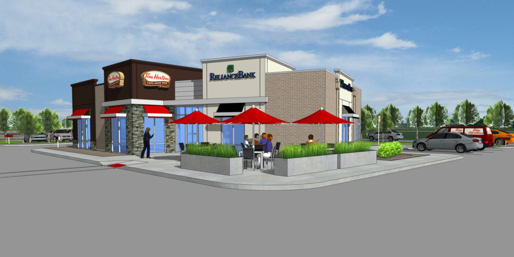 O'Fallon IL Tim Hortons Reliance Bank Rendering Entry View