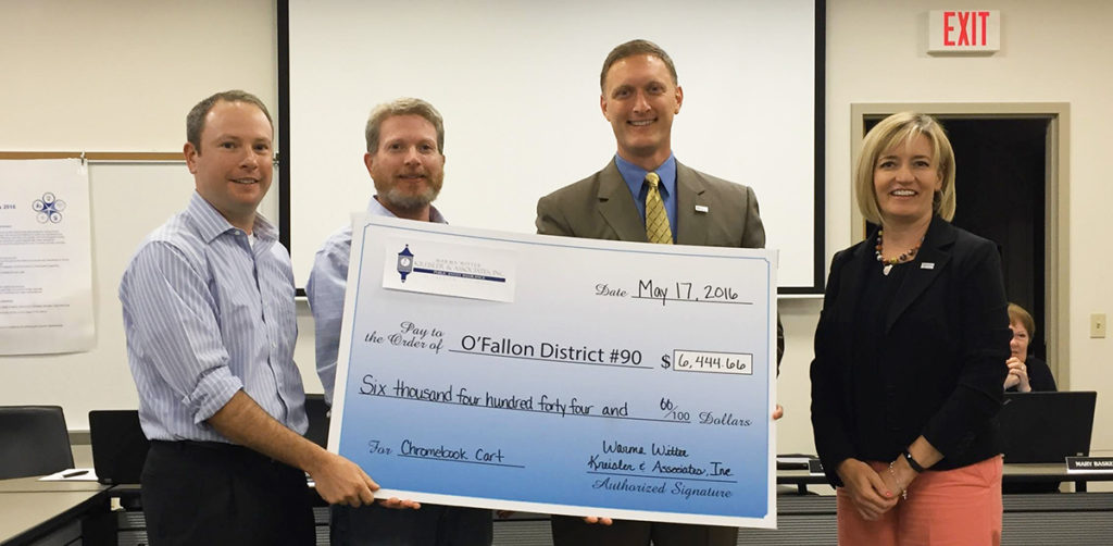 District 90 Check donation