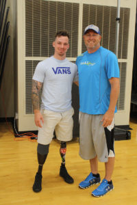 Chris Van Etten and Fulton PE teacher Tony Hanson. (O'Fallon Weekly Photo by Angela Simmons)