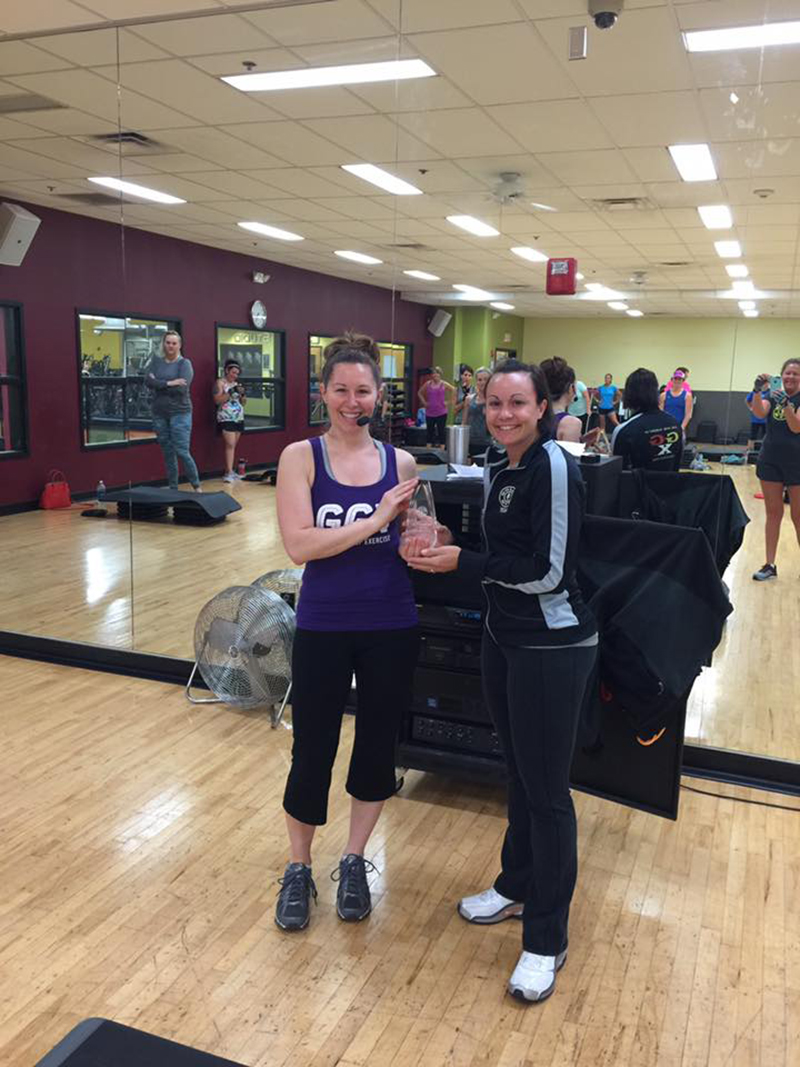 nicole goldsmith named gold's gym instructor of the quarter for st