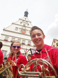 David Lewis and his friend Catie prepare to perform at Rothenberg. (Submitted Photo)