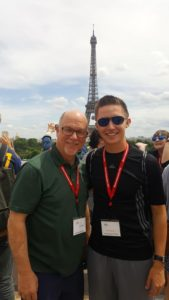 David Lewis with Tour Director Dr. John Bell, who is the Professor of Music and Director of Bands at Southern Illinois University at Edwardsville. (Submitted Photo)