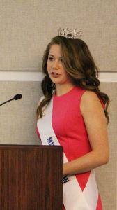Outgoing Miss O'Fallon Grace Blakenship spoke before the City Council, detailing the highlights of her time as Miss O'Fallon. Blakenship thanked the residents of O'Fallon for showing her such love and support. (O'Fallon Weekly Photo by Nick Miller)