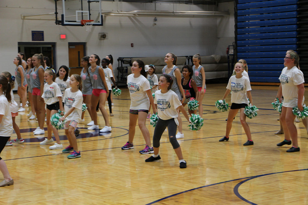 The OTHS Golden Girls held their annual dance camp last Friday and Saturday. Dancers of all ages learned routines from the Golden Girls and coaches. Camp dancers will perform a dance at the Panther Football Blue and Gold game on August 19. (O'Fallon Weekly Photos by Nick Miller)