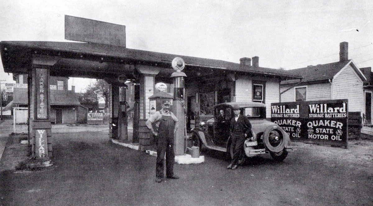 Lincoln Service Station ca1930 RESIZED