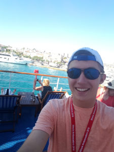 David standing on the deck of a Greek Islands cruise ship. (Submitted Photo)