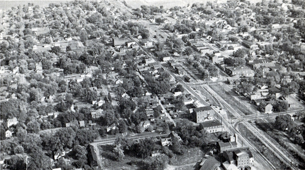 Aerial view of O'Fallon ca 1950 RESIZED