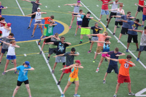 Band members practice their visual routine  (O'Fallon Weekly Photo by Sam Scinta)
