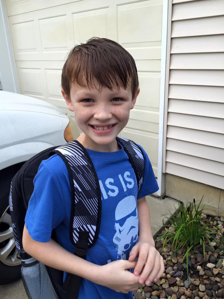Cy Hinton enters fourth grade at Moye Elementary.