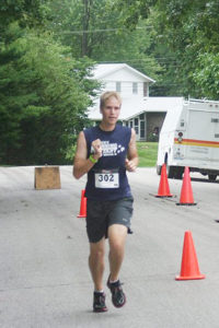 Daniel Seiffert was the first overall male.  (Photo by Carol Moore)