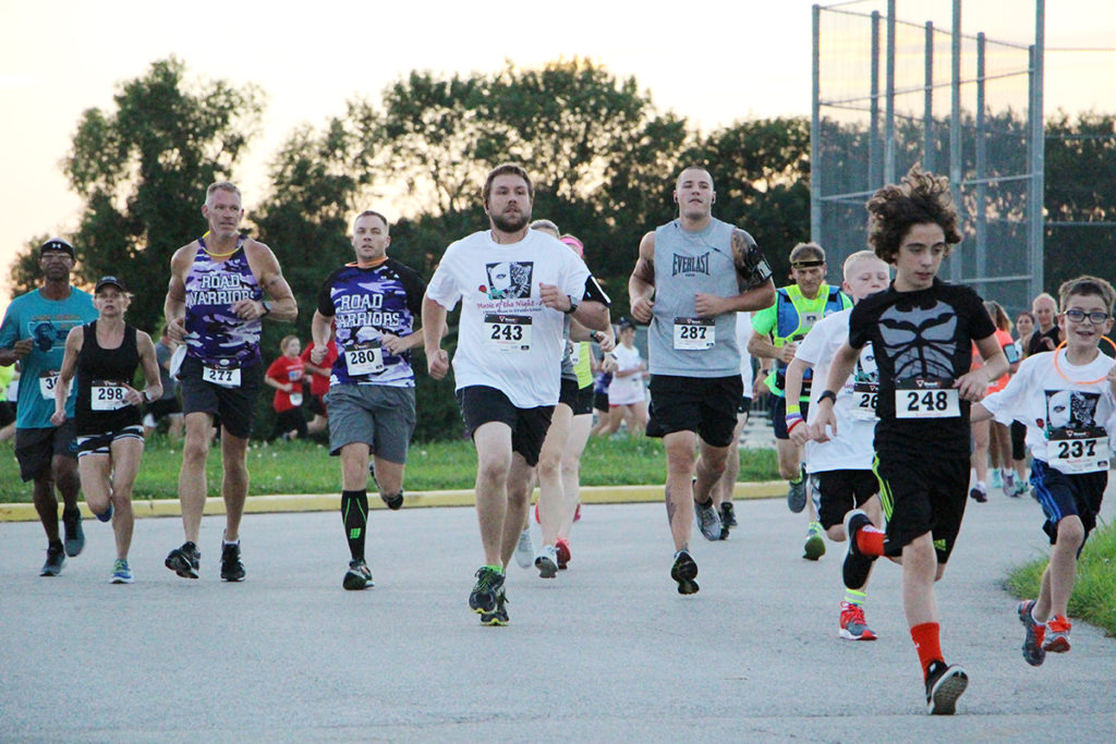 86 runners of all ages participated in the Lifelong Music in O'Fallon Schools Music of the Night 5K Saturday evening at Carriel Junior High School (O'Fallon Weekly Photo by Nick Miller)
