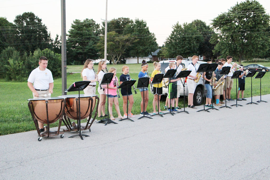 Runners were entertained by music as they departed Carriel Junior High School and as they returned to the finish line. (O'Fallon Weekly Photo by Nick Miller)