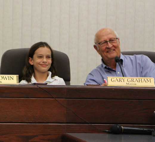 Brooklyn Cardona served as Mayor for the Day. She spent time with the O'Fallon Police and Fire Departments as well as Mayor Gary Graham. Brooklyn's mother is Alderwoman Courtney Marsh.  (O'Fallon Weekly Photo by Nick Miller)