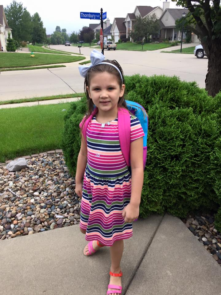 Lydia Hinton started first grade at Moye Elementary.