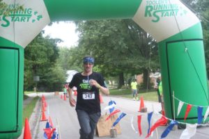 Pastor Don Long took part in the race as well. (Photo by Carol Moore)