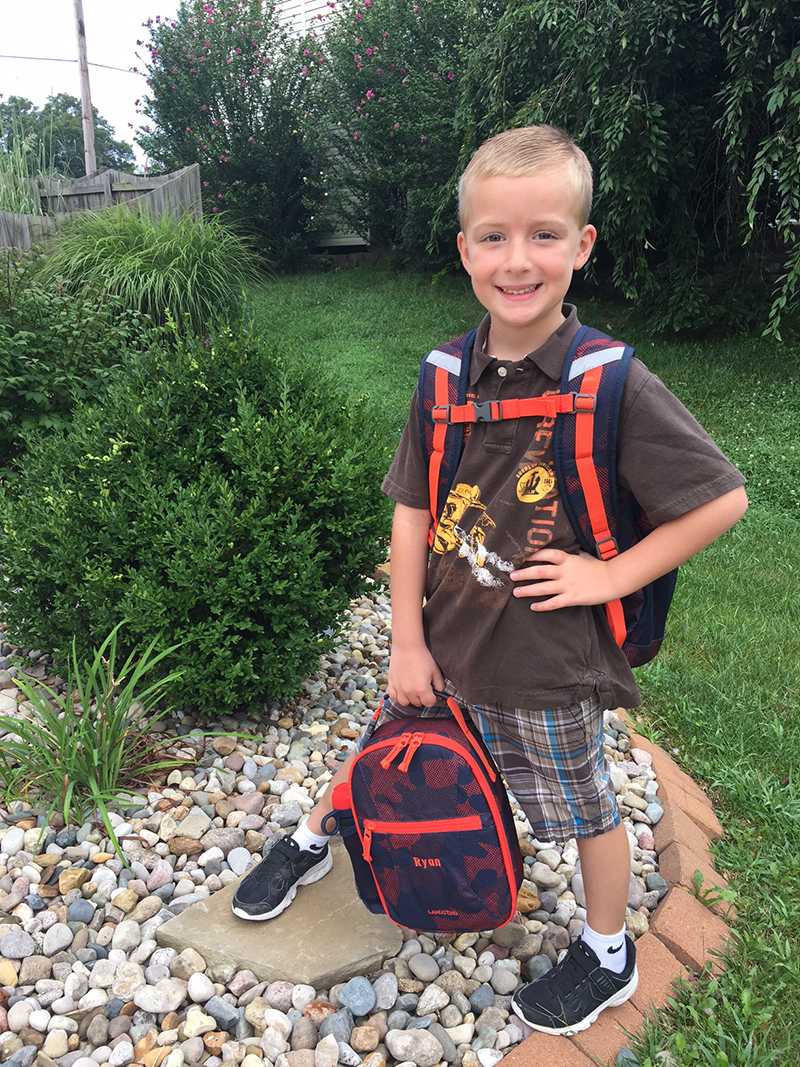 Ryan Lotz went to his first day of first grade at Moye
