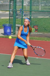 The Lady Panthers tennis team had a great weekend, ending their play int eh Southern Illinois Duals with a 3-1 record. (O'Fallon Weekly Photo by Jeff Egbert)