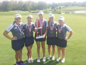 The girls golf team won the 18-team Pekin Invitational shooting an impressive 342. They beat second place Normal Community by one point.  (Submitted Photo)The girls golf team won the 18-team Pekin Invitational shooting an impressive 342. They beat second place Normal Community by one point.  (Submitted Photo)