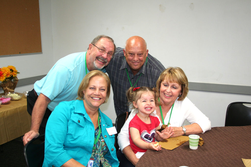 Delilah Rogers and her grandparents enjoy spending time together at preschool. (Submitted Photo)