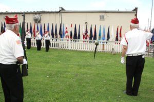 Members of the Polish American War Veterans performed a 21-gun salute during the ceremony. (O'Fallon Weekly Photo by Angela Simmons)