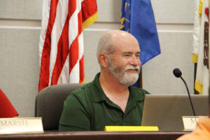 Alderman Mike Bennett announcing his retirement from his City Council position. (O'Fallon Weekly photo by Nick Miller)