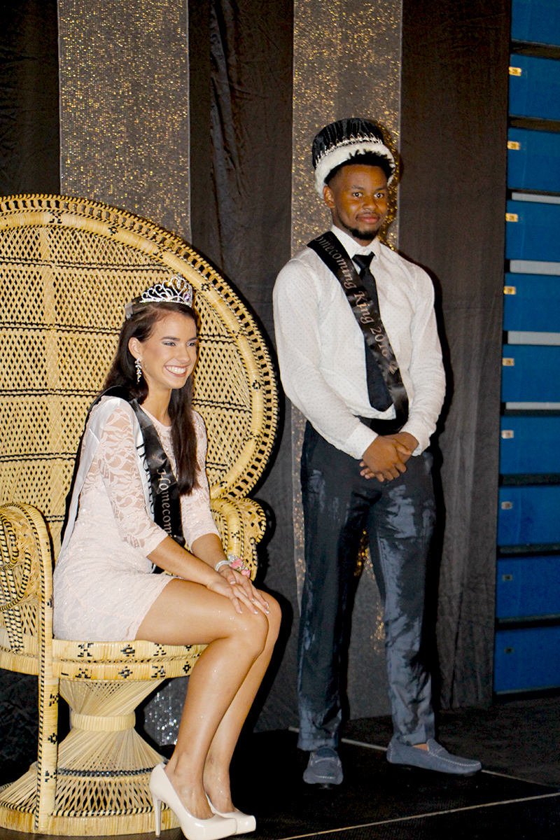 Alex Orr and Aimee Stein were announced as the 2016 Homecoming king and queen at the high school's annual dance Saturday night. Alex James Orr is the son of Andre Orr and Andrea Armstrong. Orr is involved in varsity boys basketball, Blizzard, and Gold Rush Club. Outside of school Orr works for the O'Fallon Park District, where he referees sports and works at the sports park. He also volunteers for other youth sport activities such as OTHS Youth Basketball Camp. His favorite OTHS memory is when he scored the first point as a member of varsity basketball his freshman year. Orr said his prized possession is his hair because it is so luxurious. Aimee Nicole Stein is the daughter of Robert and Monica Stein. Stein is involved in Friends of Rachel Club, FCA, National Honor Society, and National Honors Spanish Society. Outside of school, Stein loves working out and coaches at Midwest Twisters. Stein's most prized possession is her collection of photos because once you lose them, its gone and the memory is gone with it. Her favorite memory is when the class of 2017 beat the seniors in tug of war.