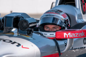 Will Power sits on pit lane during the open test at Sonoma Raceway  (Photo by INDYCAR Photo – Mike Finnegan)