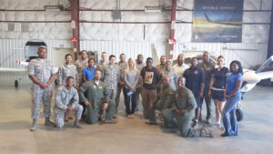Col. Laura Lenderman, Commander, 375 Air Mobility Wing and Col Terrene A. Adams, 375th Communications Group support the event and all volunteers pictured.