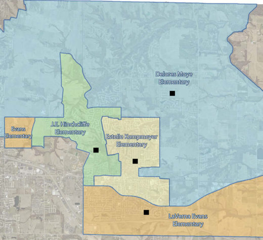 A map of the proposed boundary changes.