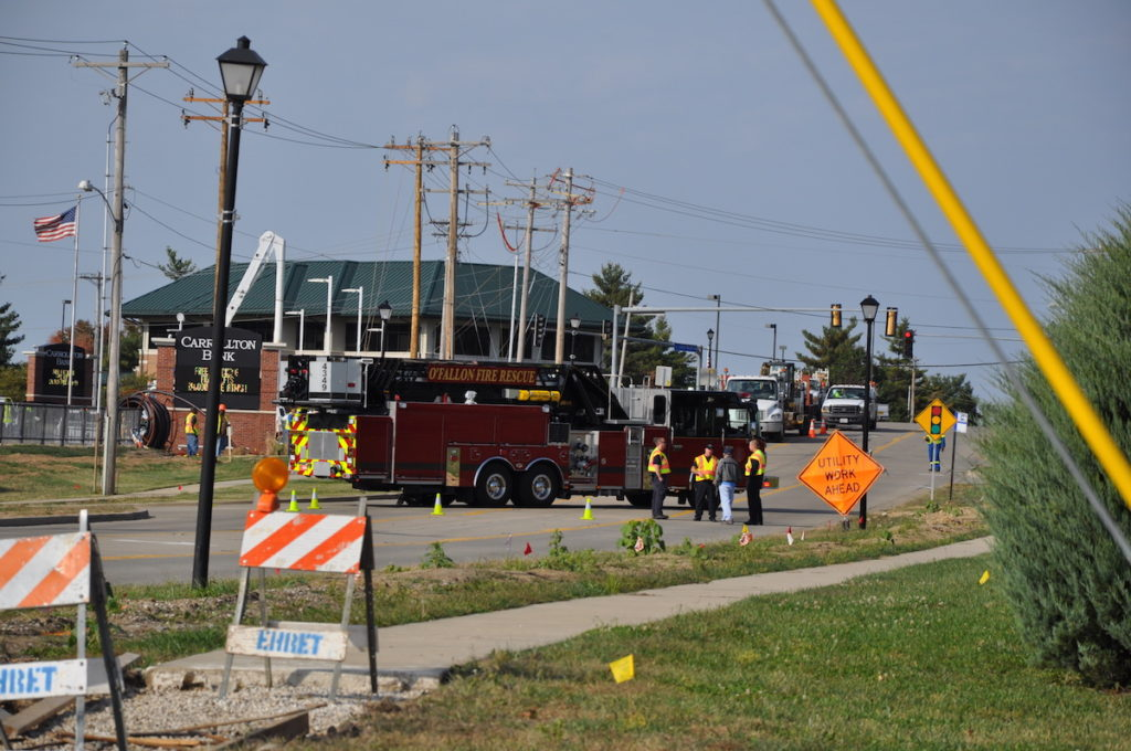 North Green Mount Rd back open after being closed due to gas main break