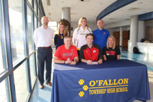 Luke Meidel signs his letter of intent to attend The Ohio State University (O'Fallon Weekly Photo by Nick Miller)