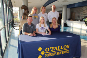 Mackenzie Koester signs her letter of intent to attend McKendree University (O'Fallon Weekly Photo by Nick Miller)