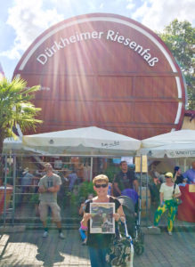 Pictured is Patty at Bad Durkheim, Germany at the World's Largest Wine Festival while she visited a friend.