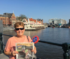 Patty is pictured in Amsterdam, The Netherlands, while she visited with the exchange student that lived with her family many years ago. She said she considers her to be her dutch sister.