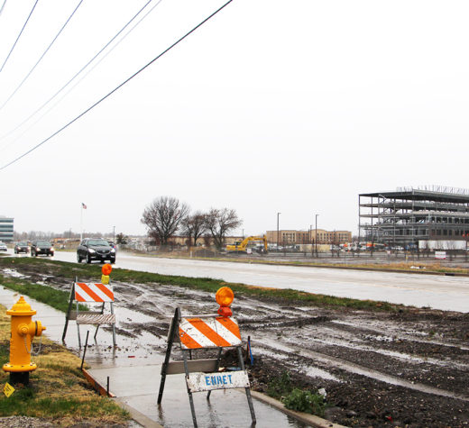 The section of Green Mount Road between Regency Park and Highway 50 will undergo construction work beginning in December.  (O'Fallon Weekly Photo by Nick Miller)