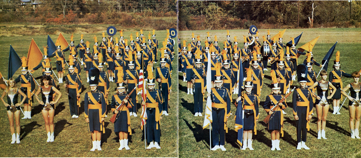 This week's view is of the members of the O'Fallon Township High School marching band as they looked during the 1967-68 school year under the direction of John Albert. The first OTHS marching band was organized by Albert the previous year. He would lead the band until 1972 when he was succeeded by Edward A. Fulton. (Contributed by Brian Keller, O'Fallon Historical Society.)
