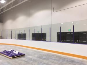 A sneak peek of the dasher boards in the pro rink at the McKendree Metro Rec Plex. (Submitted Photo)