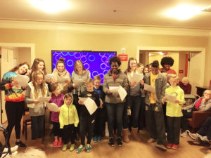 Members of the O'Fallon Girls Volleyball team took time out of their busy holiday schedules to sing Christmas carols at a nearby nursing home for residents. (Submitted Photo)