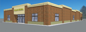 An artist's rendering of the proposed Dollar General building that would have been located at Highway 50 and Lawn Avenue. (Submitted Photo)