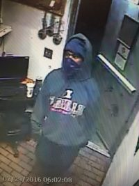 Hardee's armed robbery suspect