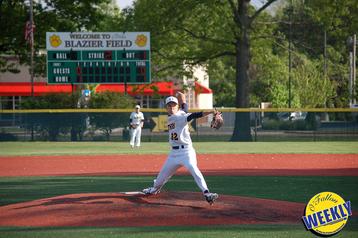 Heath Zuber pitches against East St. Louis